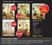 Folding attic stairs/ladders supplied and fitted from €195