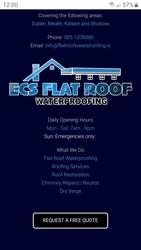 Liquid rubber seamless flat roofs